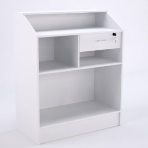 Balcão caixa modelo 2 na cor branca