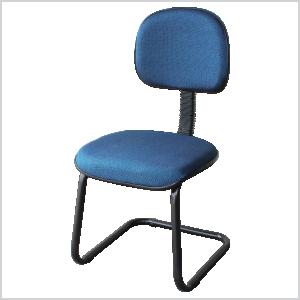 Cadeira anatômica contínua na cor azul