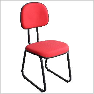 Cadeira anatômica sky na cor vermelha