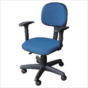Cadeira digitadora na cor azul