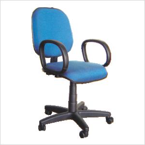 Cadeira diretor com relax na cor azul