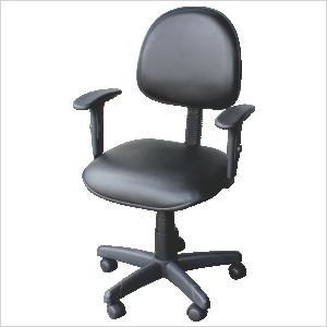 Cadeira executiva com braço gatilho na cor preta