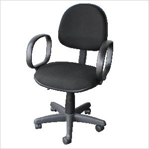 Cadeira executiva com braço corsa na cor preta