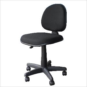 Cadeira executiva com lâmina na cor preta