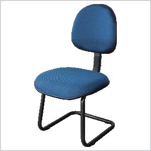 Cadeira executiva continua na cor azul