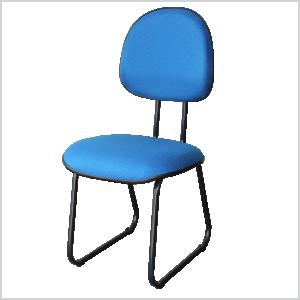 Cadeira executiva sky na cor azul