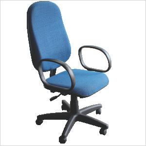 Cadeira presidente com relax na cor azul