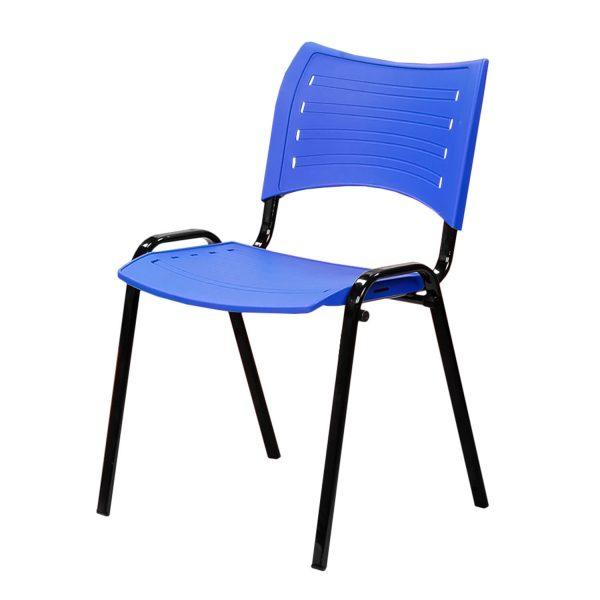 Cadeira iso fixa na cor azul